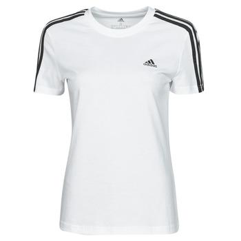 Clothing Women Short-sleeved t-shirts adidas Performance W 3S T White