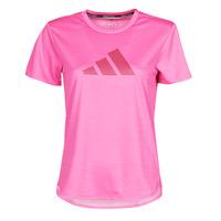 Clothing Women Short-sleeved t-shirts adidas Performance BOS LOGO TEE Pink