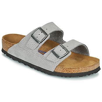 Shoes Men Mules Birkenstock ARIZONA SFB Grey