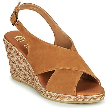Shoes Women Sandals Betty London OHINDRA Cognac