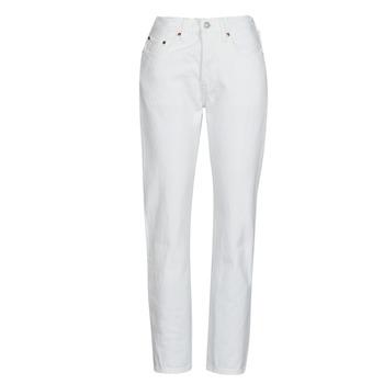 Clothing Women Boyfriend jeans Levi's 501 CROP White