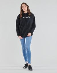 Clothing Women Skinny jeans Levi's 711 SKINNY Blue