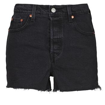 Clothing Women Shorts / Bermudas Levi's RIBCAGE SHORT Black