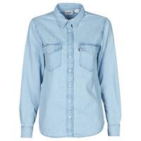 Clothing Women Shirts Levi's ESSENTIAL WESTERN Blue