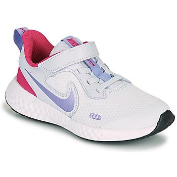 Shoes Girl Multisport shoes Nike REVOLUTION 5 PS Blue / Purple