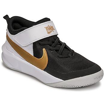 Shoes Children Multisport shoes Nike NIKE TEAM HUSTLE D 10 White / Black / Gold