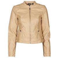 Clothing Women Leather jackets / Imitation leather Vero Moda VMLOVE Beige