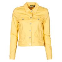 Clothing Women Denim jackets Vero Moda VMHOTSOYA Yellow