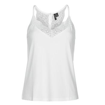 Clothing Women Tops / Sleeveless T-shirts Vero Moda VMANA White