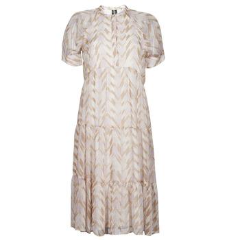 Clothing Women Long Dresses Vero Moda VMKATHRINE Beige