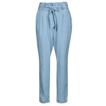 Clothing Women Chinos Vero Moda VMVIVIANAEVA Blue / Clear