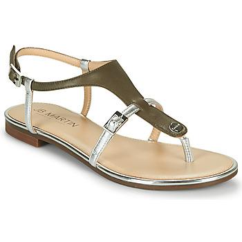 Shoes Women Sandals JB Martin 2GAELIA Kaki / Silver