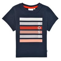 Clothing Boy Short-sleeved t-shirts BOSS ENOLITO Marine