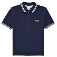 Clothing Boy Short-sleeved polo shirts BOSS TONNELA Marine