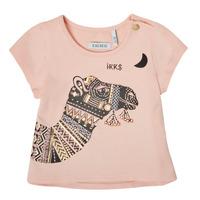 Clothing Girl Short-sleeved t-shirts Ikks XS10100-32 Pink