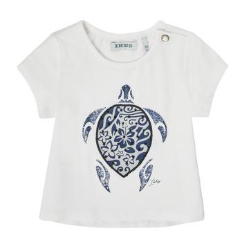 Clothing Girl Short-sleeved t-shirts Ikks XS10070-19 White