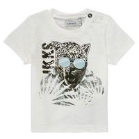 Clothing Boy Short-sleeved t-shirts Ikks XS10161-19 White