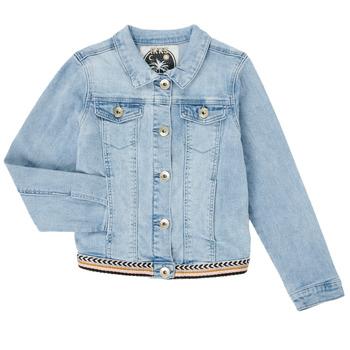Clothing Girl Denim jackets Ikks XS40152-84-J Blue