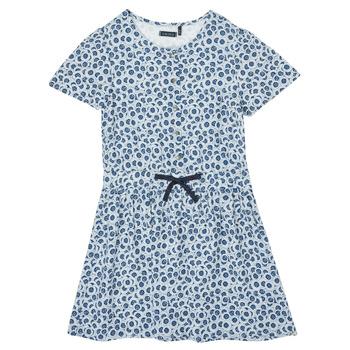 Clothing Girl Short Dresses Ikks XS30102-48-C Blue