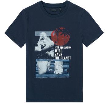 Clothing Boy Short-sleeved t-shirts Ikks XS10013-48-C Marine
