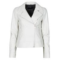 Clothing Women Leather jackets / Imitation leather Oakwood MARJORY White