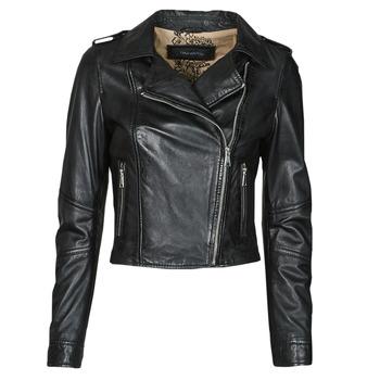Clothing Women Leather jackets / Imitation leather Oakwood ALIZEE Black