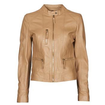 Clothing Women Leather jackets / Imitation leather Oakwood EACH Camel
