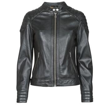 Clothing Women Leather jackets / Imitation leather Oakwood ELLA Black