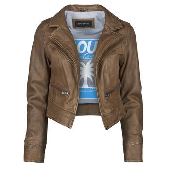 Clothing Women Leather jackets / Imitation leather Oakwood TRISH Brown