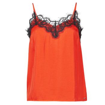 Clothing Women Tops / Sleeveless T-shirts Les Petites Bombes AMY Orange