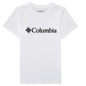 Clothing Boy Short-sleeved t-shirts Columbia CSC BASIC LOGO YOUTH White
