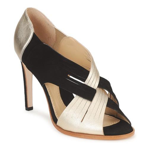 Shoes Women Heels Moschino MINEK Black / Gold