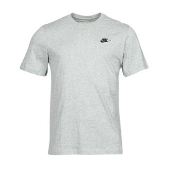 Clothing Men Short-sleeved t-shirts Nike NSCLUB TEE Grey / Black