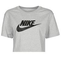 Clothing Women Short-sleeved t-shirts Nike NSTEE ESSNTL CRP ICN FTR Grey / Black