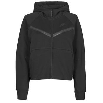 Clothing Women Track tops Nike NSTCH FLC WR ESSNTL FZ HDY Black