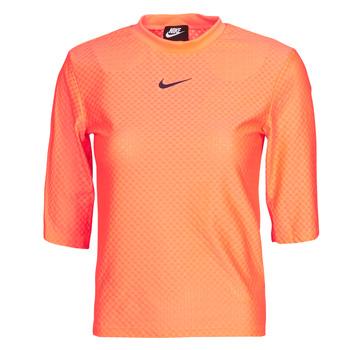Clothing Women Short-sleeved t-shirts Nike NSICN CLSH TOP SS MESH Orange