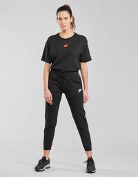 Clothing Women Tracksuit bottoms Nike NSMLNESSNTL FLC MR JGGR Black / White