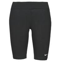 Clothing Women Leggings Nike NSESSNTL MR BIKER SHORT Black / White