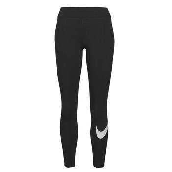 Clothing Women Leggings Nike NSESSNTL GX MR LGGNG SWSH Black / White