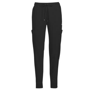 Clothing Women Tracksuit bottoms Nike NSAIR PANT FLC MR Black / White