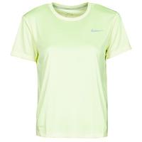 Clothing Women Short-sleeved t-shirts Nike MILER TOP SS Green / Grey