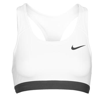 Clothing Women Sport bras Nike DF SWSH BAND NONPDED BRA White / Black