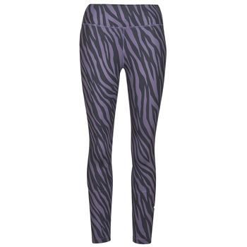 Clothing Women Leggings Nike NIKE ONE 7/8 AOP TGT ICNCLSH Purple / Black