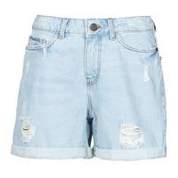 Clothing Women Shorts / Bermudas Noisy May NMSMILEY Blue / Clear
