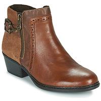 Shoes Women Ankle boots Rieker BELLA Brown