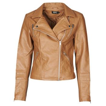 Clothing Women Leather jackets / Imitation leather Only ONLGEMMA Cognac