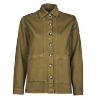 Clothing Women Denim jackets Betty London OVEST Kaki