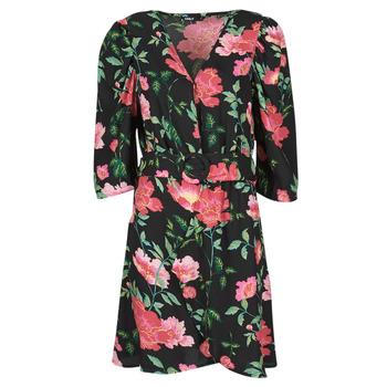 Clothing Women Short Dresses Only ONLEVE 3/4 SLEEVE SHORT DRESS WVN Black / Pink