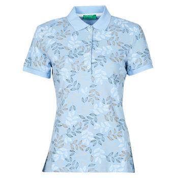 Clothing Women Short-sleeved polo shirts Benetton CHOLU Blue