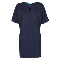 Clothing Women Short Dresses Benetton CAMILA Marine